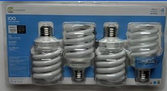 Ecosmart 23-Watt Daylight Compact Fluorescent Light Bulbs CFL 4-Pack (equivalent to standard 100 watt bulbs)