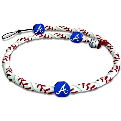 MLB Atlanta Braves Classic Frozen Rope Baseball Bracelet