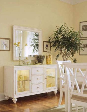 Buy Low Price American Drew Camden White Sideboard with Mirror – American Drew 920-830 (B005LWR3IY)