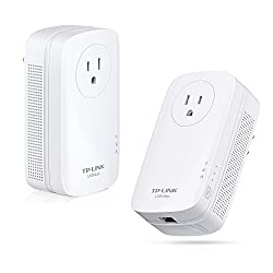 TP-LINK TL-PA8010P KIT AV1200 Gigabit with Power Outlet Pass-through Powerline Adapter, Up to 1200Mbps