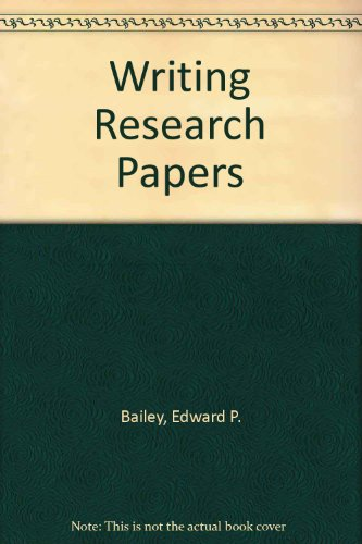 Writing Research Papers: A Practical Guide
