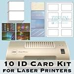 10 ID Card Kit - Laminator, Laser Tes...