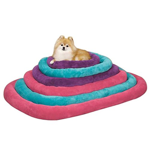 Slumber Pet Bright Terry 29 By 18-Inch Dog Crate Bed Mat, Medium, Turquoise front-260374