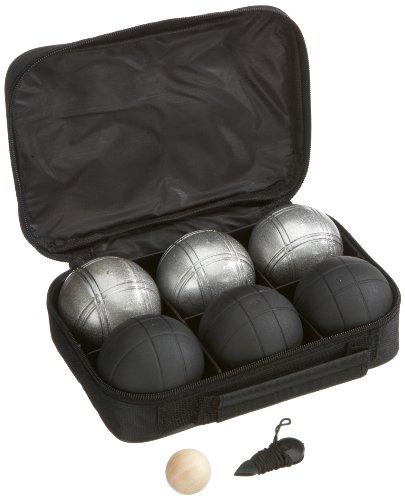 Weiblespiele 010207 - Juego de bolas de petanca (6 unidades), color negro y plateado