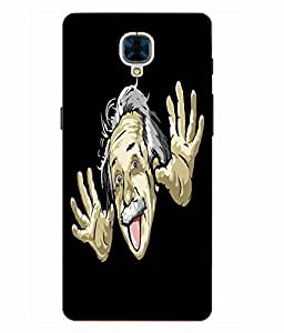 Case Cover Funny Printed Black Hard Back Cover For OnePlus 3