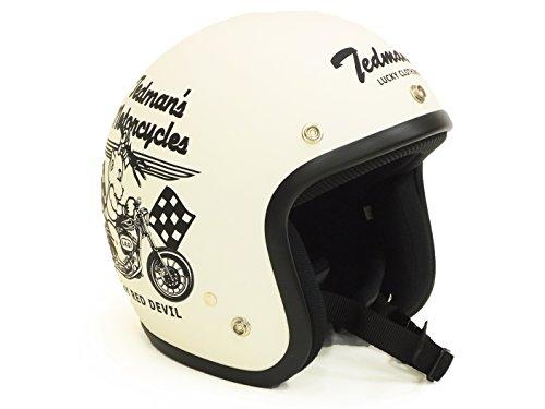 (テッドマン) TEDMAN ヘルメット TMH-09 エフ商会 メンズ ジェットヘルメット F.VANILA (M(:約57cm-58cm))