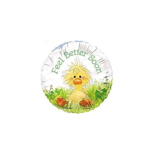 "Amazon.com: Get Well Soon 18"" Feel Better Baby Duck Sympathy Mylar"