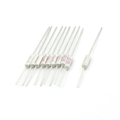 10Pcs 250V 10A 240C Celsius Circuit Cut Off Temperature Thermal Fuse
