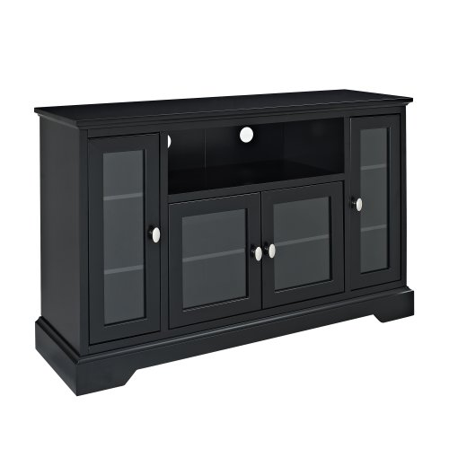 Buy low price we furniture 52 inch highboy style wood tv for Where to buy tv console