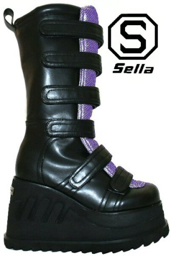 Sella Grind - Black PU / Purple PU - Size 5