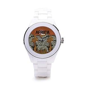 QueensLandMen'sSports Watch Africa Ceramic Case Watch Safari