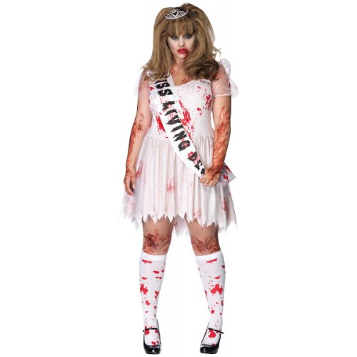 Putrid Prom Queen Costume - Plus Size 1X/2X - Dress Size 16-20