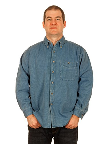 mens-denim-corduroy-long-sleeve-button-down-shirt-large-light-blue