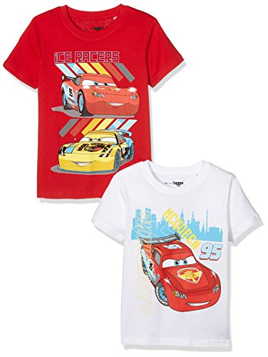 tv-mania-jungen-t-shirt-disney-cars-2er-pack-mehrfarbig-white-racing-red-white-racing-red-104