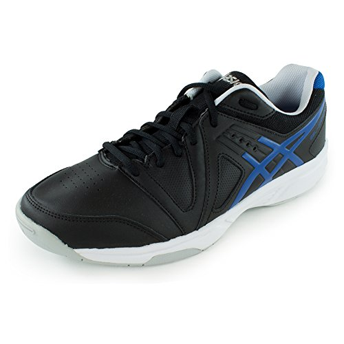 Asics Men S Gel Gamepoint Tennis Shoe Black Jet Blue