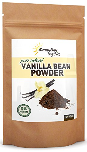 Organically Grown Vanilla Bean Powder, 4.23 Oz - Raw Ground Vanilla Bean - Unsweetened, Gluten-Free - EXTREMELY FRESH - Ground Moments Before Packaging!