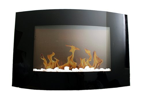 B006FKL0DA New Diva Tranquility 35″ Wall Mount 1500W/750W Adjustable Electric Fireplace/Heater with Remote Control