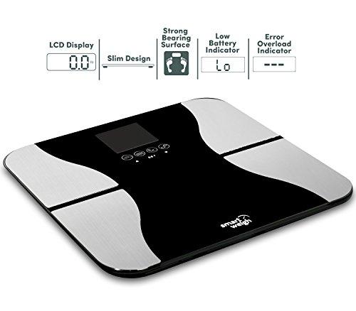 Smart Weigh SBS500 - Bilancia pesapersone di precisione, digitale, con superficie in vetro ...