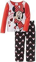 Disney Little Girls' Minnie Mouse Toddler Cozy Cutie Pajama Set