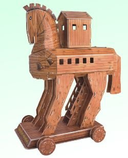 3d Trojan Horse Greece 3 D Puzzle Greek [Toy]