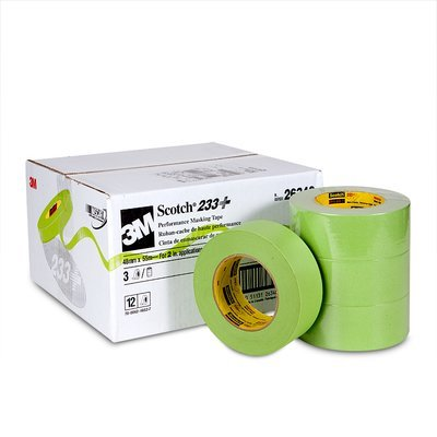 3M (233+48mmx55m-Bulk) Performance Masking Tape 233+ 26340, 48 mm x 55 m [You are purchasing the Min order quantity which is 12 Rolls]