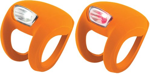Knog Frog Strobe Twinpak - Headlight & Taillight combo Orange Bodies. BE SAFE - BE SEEN !