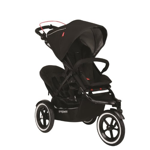 Phil&Teds Navigator Stroller With Auto Stop And Doubles Kit, Black front-917984
