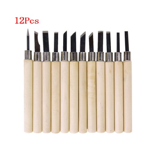 sonline-12-pcs-couteaux-de-gravure-a-manche-en-bois-outils-de-sculpture