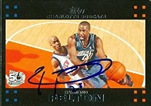 Raymond Felton Autographed Hand Signed Basketball Card (Toronto Raptors) 2007 Topps... by Hall of Fame Memorabilia
