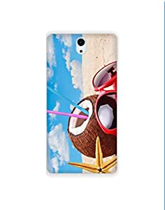Sony Xperia C5 Ultra ht003 (127) Mobile Case from Mott2 - Coconut Beach Vacation (Limited Time Offers,Please Check the Details Below)