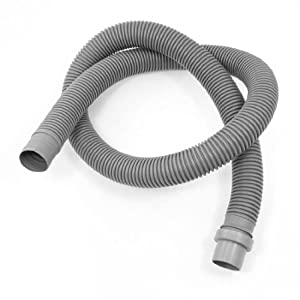 Spare Components Gray Plastic Flexible 1.3 Meter Drain Hose for Washer by Amico