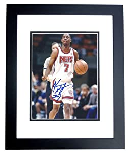 Kenny Anderson Autographed Hand Signed New Jersey - Nets 8x10 Photo - BLACK CUSTOM... by Real+Deal+Memorabilia