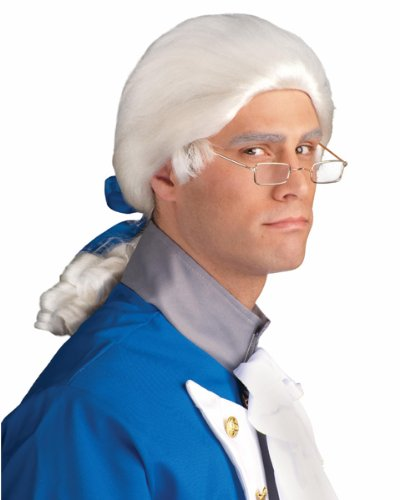 Forum Mens 1700s Colonial Historical White Costume Wig
