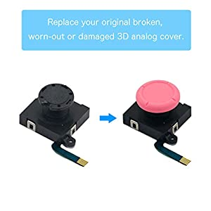 BRHE Replacement Thumb Grip Caps for Nintendo Switch Original 3D Analog Stick and Nintendo Switch Lite Joy Con Joystick Silicone Rubber Cover Set 2 Pack (Light Pink) (Color: light pink)