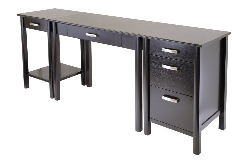 Buy Low Price Comfortable Winsome Wood Liso 3pc Home Office computer Desk, Printer Stand and File Cabinet Set (B002SSUKMK)