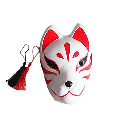 [「Shikyo」 Mysterious Fox Mask Cosplay Costume (Fox Mask)] (Halloween Costumes Gallery)