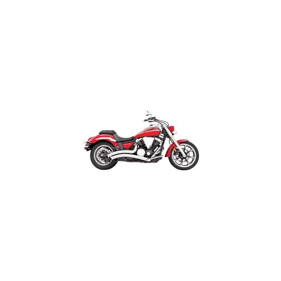 Freedom Performance Sharp Curve Radius Motorcycle Exhaust System   Chrome For Yamaha Roadstar 1600/1700 1999 2011   MY00081