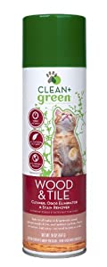 Clean + Green Wood and Tile Pet Odor and Stain Remover for Cats, 16-Ounce