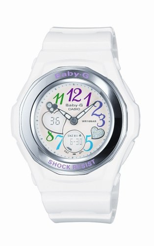 Casio BGA-101-7BER BABY-G ladies combi resin strap watch
