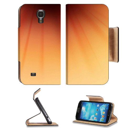 Macro Shot Orange Flower Center Gradation Color Shades Nature Samsung Galaxy S4 Flip Cover Case With Card Holder Customized Made To Order Support Ready Premium Deluxe Pu Leather 5 Inch (140Mm) X 3 1/4 Inch (80Mm) X 9/16 Inch (14Mm) Liil S Iv S 4 Professio