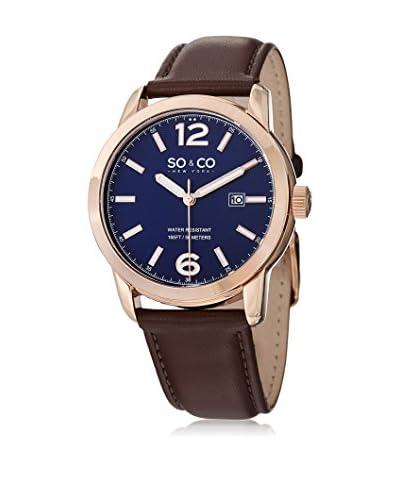 SO & CO New York Reloj de cuarzo Madison Marrón 42  mm