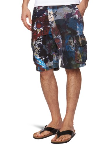 Desigual Telon Cropped Men's Shorts Navy Medium