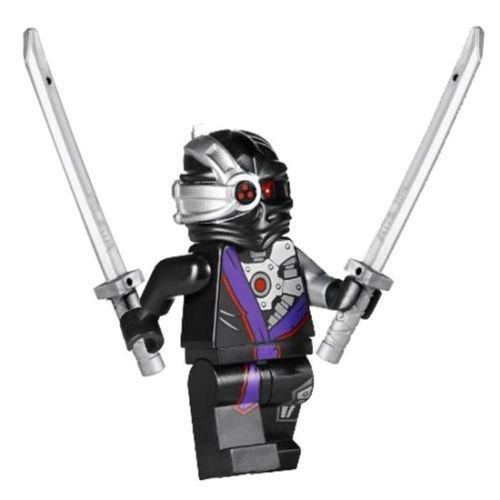 Lego 70728 Nindroid Warrior Minifigure w 2 Katanas Battle for Ninjago City 2014 (Ninja Custom compare prices)