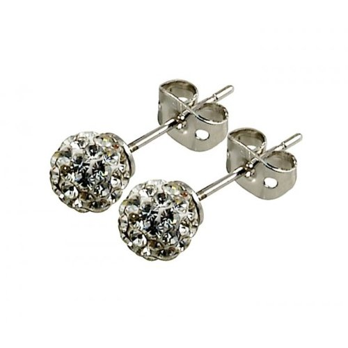 Tresor Paris ' Tassily' White Crystal Earrings