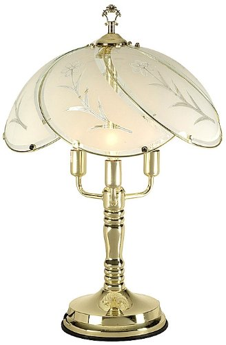 touch lamps flower etched glass shade touch table lamp with key. Black Bedroom Furniture Sets. Home Design Ideas