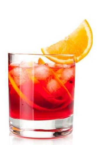 Negroni with Orange Slice