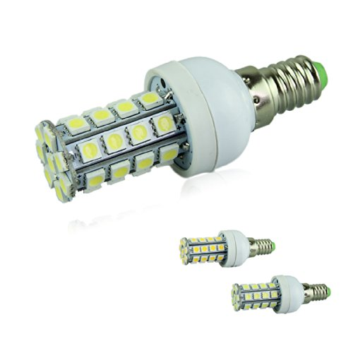 Voberry Dimmable E14 Base 7W 36 5050 Smd Led Corn Light Bulb Lamp Cool White 110V (Coolwhite-110V)