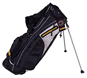 Pinemeadow Courier Stand Bag (Black/Yellow)