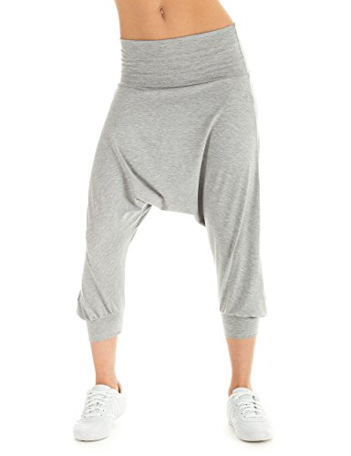 Winshape pantaloni sportivi da donna pantaloni danza Fitness Sport e tempo libero, Donna, Trainingshose Dance Fitness Freizeit Sport Haremshose, grigio, XL