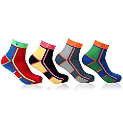 Bonjour Mens Cushioned Sports Ankle Socks Pack of 4 Pairs_BRO27008-P04